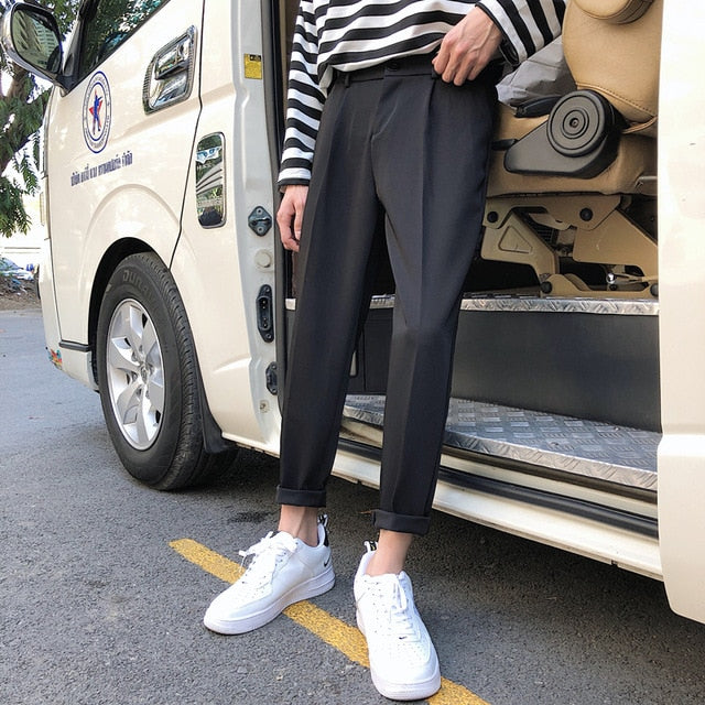 [Korean Style] Barney Cotton Casual Pants
