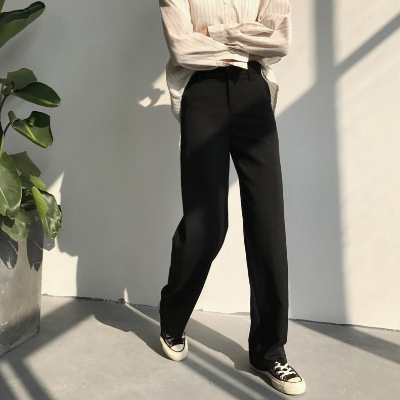[Korean Style] Vernie Full Length Wide Leg Trousers