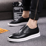[Korean Style] Brogue Leather Casual Shoes