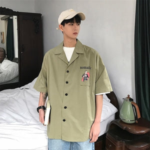 [Korean Style] Nomadic Casual 1/2 Shirts