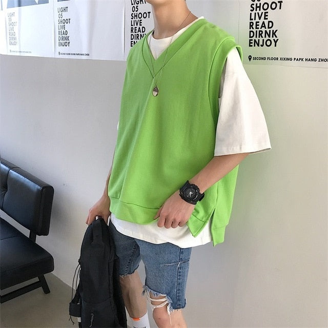 [Korean Style] Ralphie Oversized Sleeveless Vest