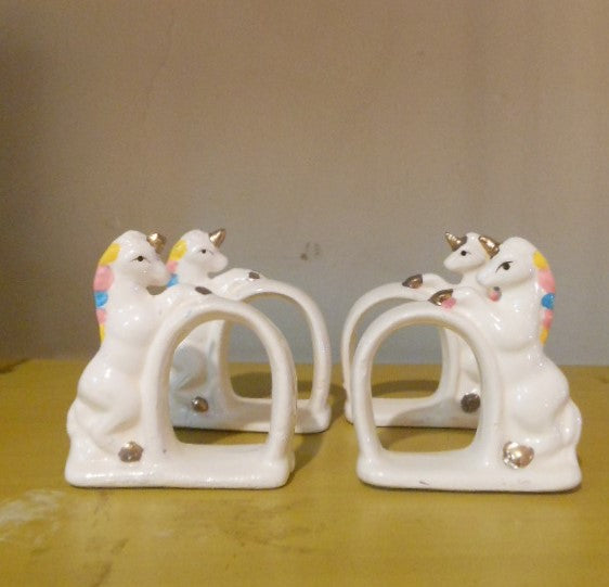 Set of 4 Unicorn Napkin Holders