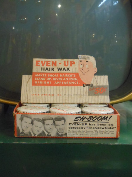 Even-Up Hair Wax Advertising