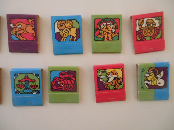 Set of Psychedelic Zodiac Matches
