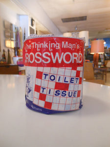 Vintage Crossword Puzzle Toilet Paper