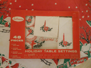 1960 Holiday Table Settings Paper Set