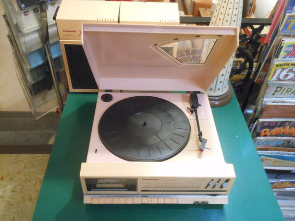 1985 Panasonic X7 Turntable, Cassette, Radio & Speakers Stereo