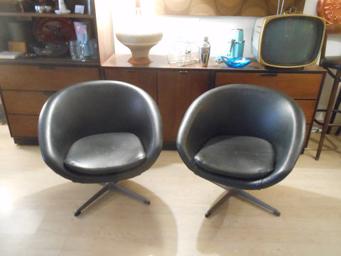 Swedish Overman Pod Swivel Chairs