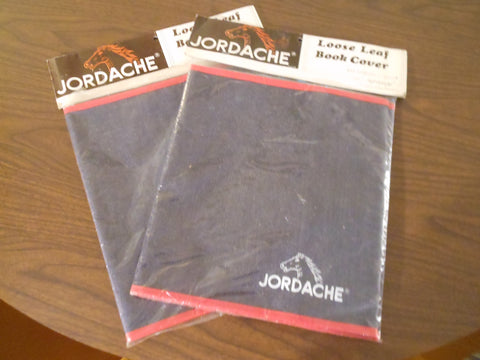 1980's Jordache Denim Loose Leaf Book Cover