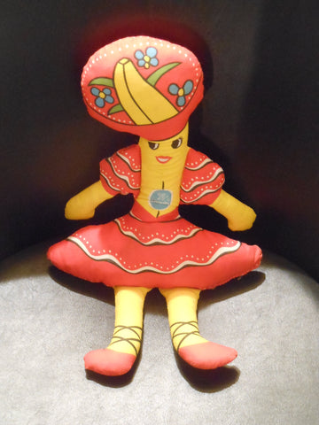 1975 Chiquita Banana Cloth Doll