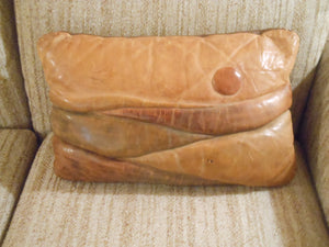 Vintage Leather Pillows