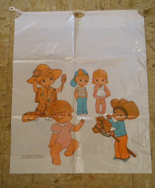 1974 Gerber Toddlers Plastic Shopping Bags
