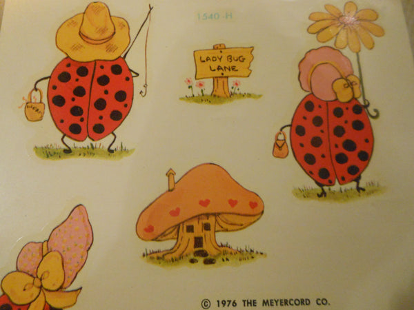 1976 Meyercord Ladybugs Decals