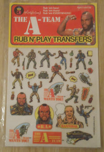 1983 A-Team Rub N' Play Transfers