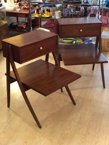 Pair Kipp Stewart Drexel Declaration Nightstands/Side Tables