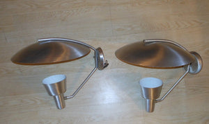 Vintage Pair Gotham Lighting Aluminum Sconces