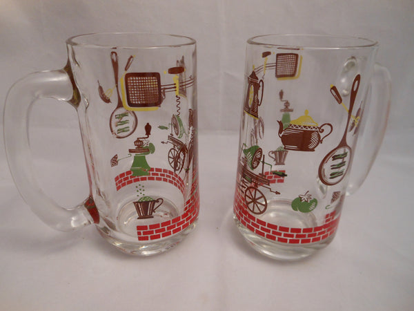 Barbecue Theme Steins and Tray