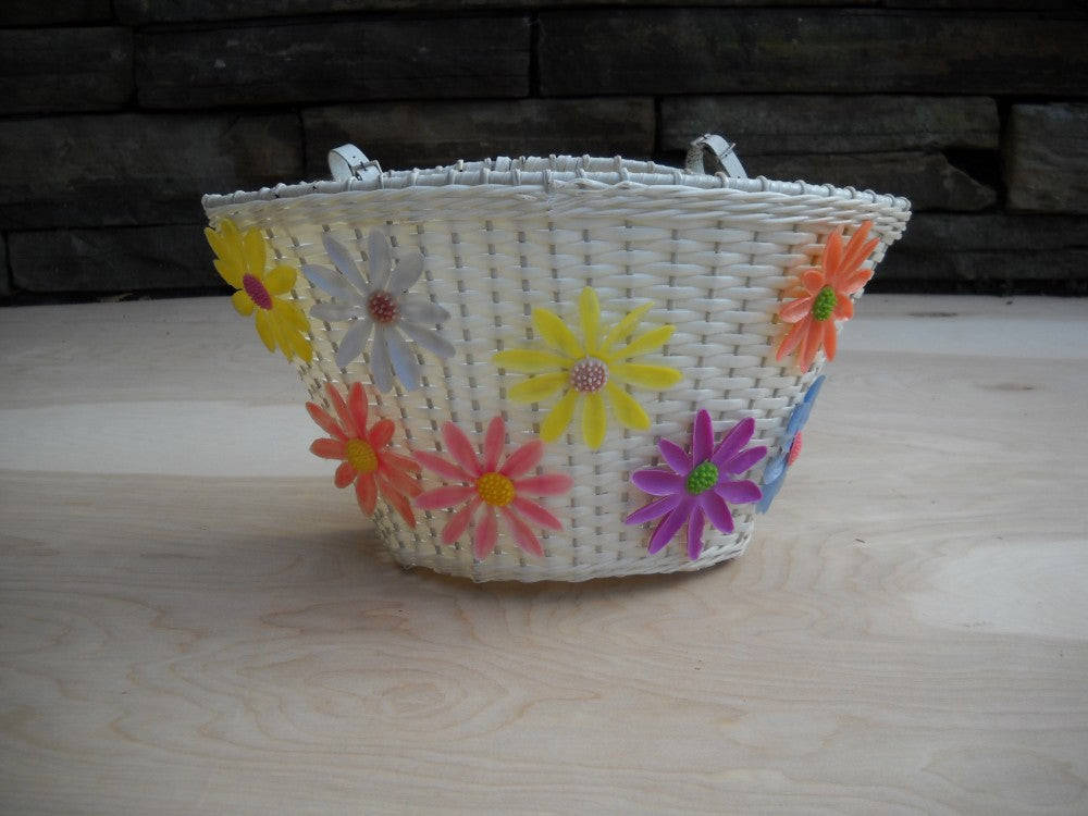 Vintage Flower Bike Basket