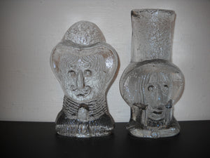 Blenko IceFloe Glass Bookends