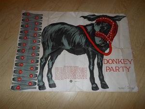 1926 Pin the Tail on the Donkey Game