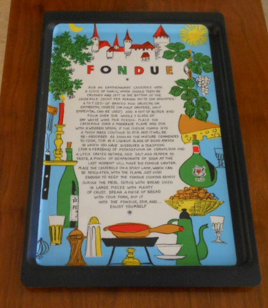 Fondue Recipe Tray