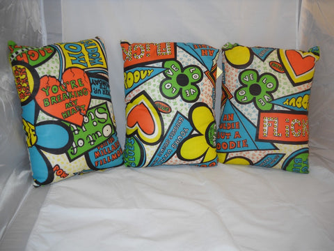 Vintage Mod Hipster Pillows