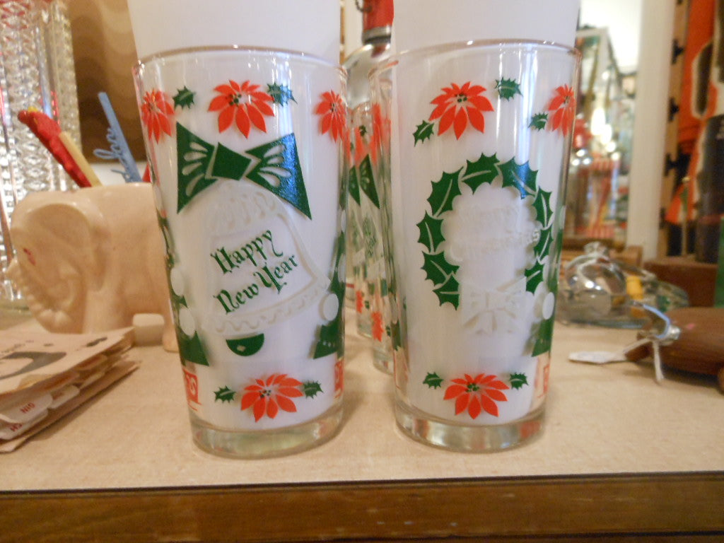 Set of 6 Holiday Glasses