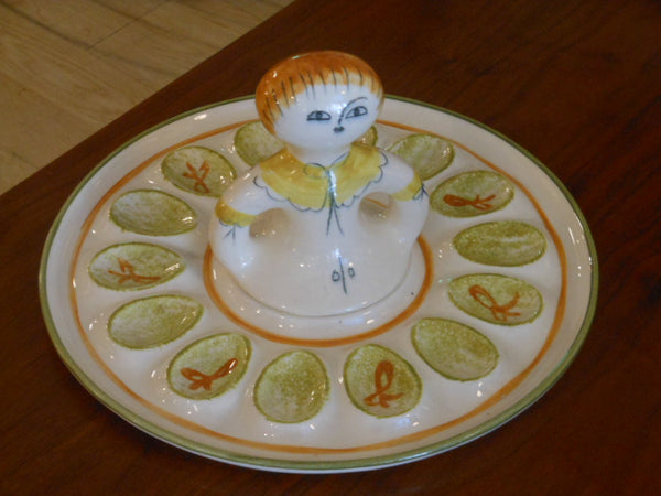 LA Potteries Egg Plate