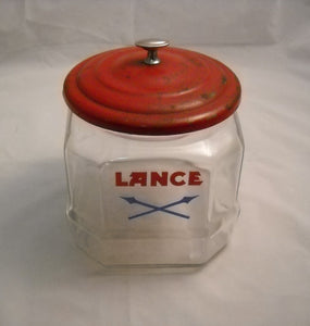 Vintage Glass Lance Jar