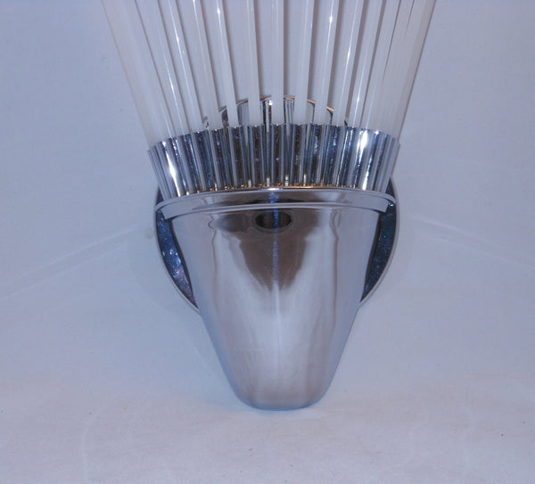 Deco Glass Rod Sconces