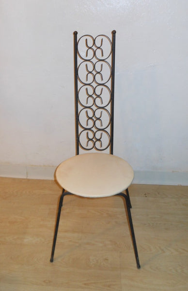 Iron High Back Chair