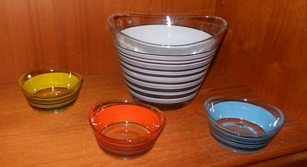 Mod Striped Bowl Set
