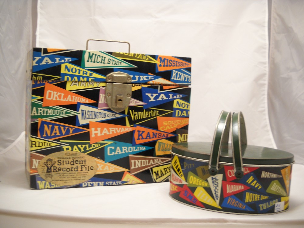 College Pennant Metal Boxes