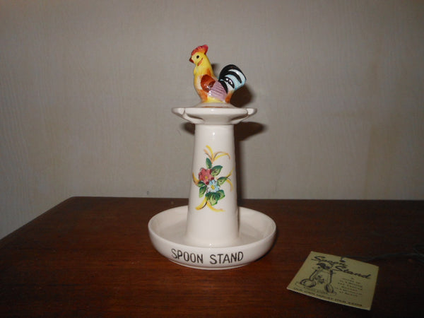 Vintage Japan Rooster Spoon Rest
