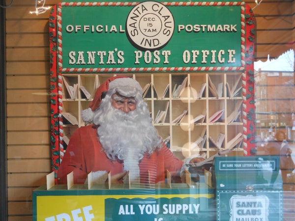 Vintage Metal Santa's Post Office Display