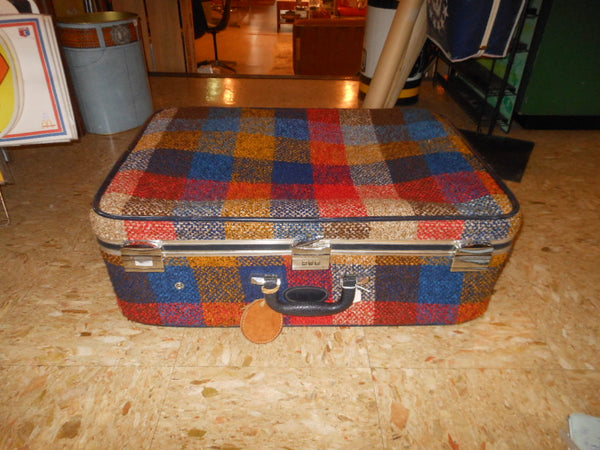 Skyway Plaid Suitcase