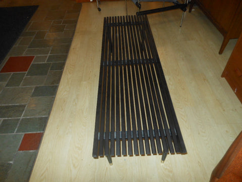 Black Slat Bench