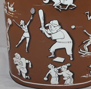 Vintage Sports Wastebasket