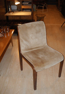 Knoll Suede Side Chair