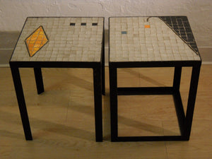 Pair of Tile Side Tables