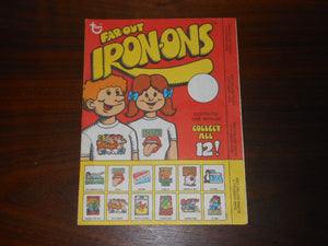 Vintage Topps Far-Out Iron-Ons