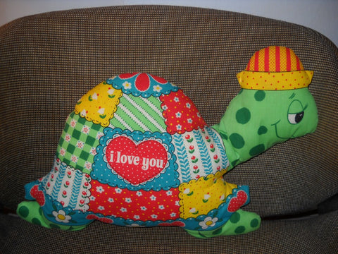 Vintage Love Turtle Pillow
