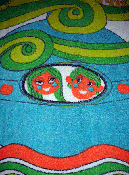 Vintage Hippie Original Beach Towel