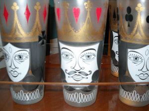 King & Queen Playing Card Glasses