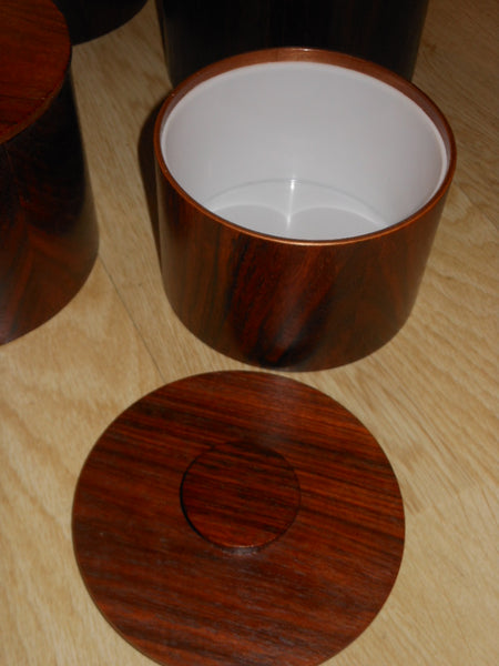 Wood Veneer Canister Set