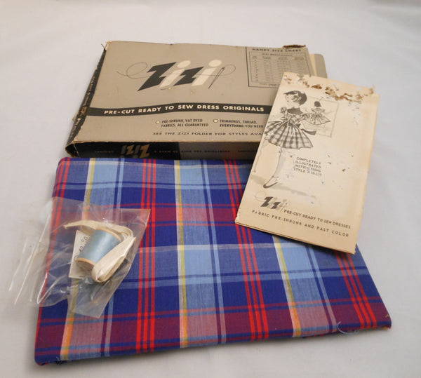 Vintage Zizi Plaid Dress Kit