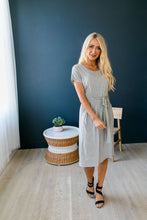 Load image into Gallery viewer, Effortless Knit Tie-Front Dress - Boho Valley Boutique