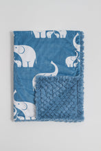 Load image into Gallery viewer, Coastal Blue Elephant Child Blanket - Boho Valley Boutique