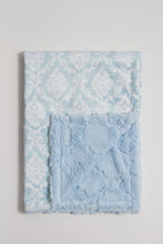 Load image into Gallery viewer, Crystal Blue Damask Child Blanket