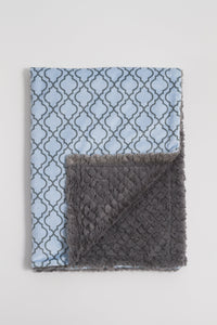 Blue Lattice Child Blanket - Boho Valley Boutique